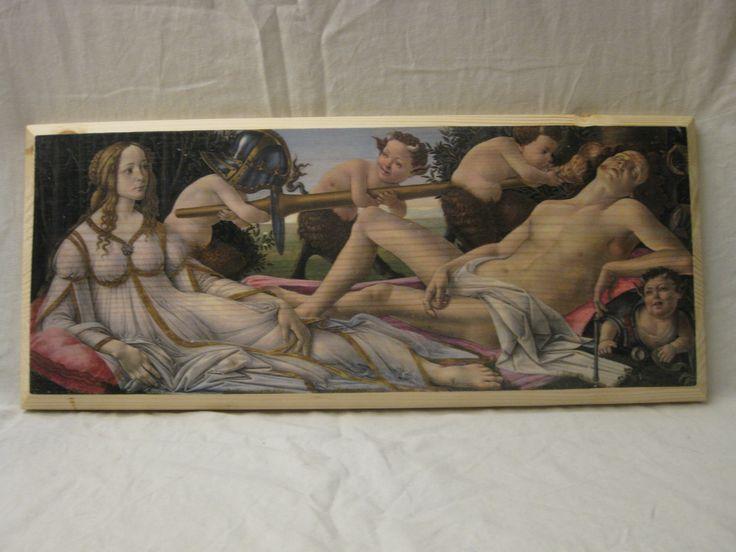 MARS AND VENUS, wood board, wood wall art, Handmade wood print. Home decor, Renaissance Art di KnockOnWoodCraft su Etsy