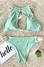Cupshe Peppermint Wind Bikini Set - L
