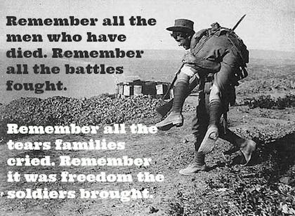 remember them all anzac day quote