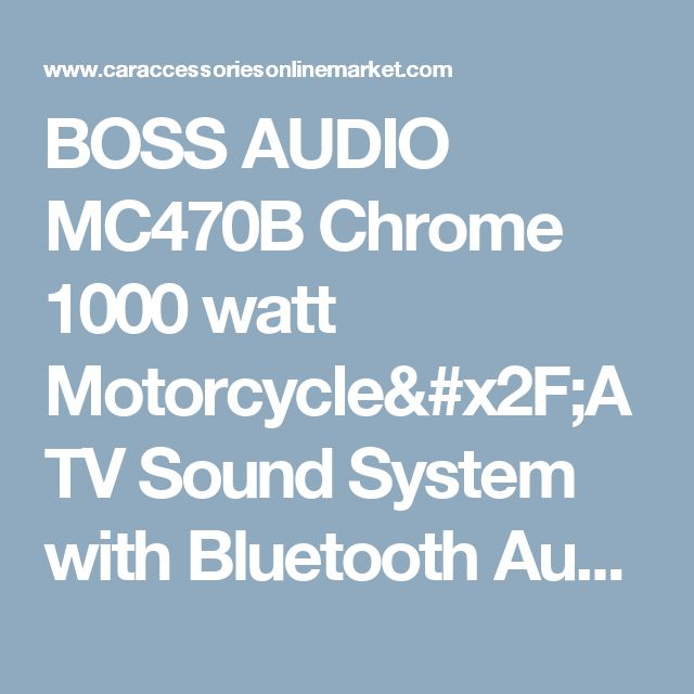 BOSS AUDIO MC470B Chrome 1000 watt Motorcycle/ATV Sound System with Bluetooth Audio Streaming, Two Pairs of 3 Inch Weather Proof Speakers, Aux Input and Volume Control | Car Accessories Online Market