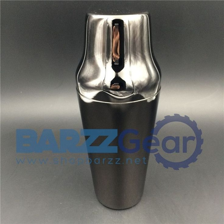 Black-Plated Boston Style Beverage Shaker Barware Tool, 900ml