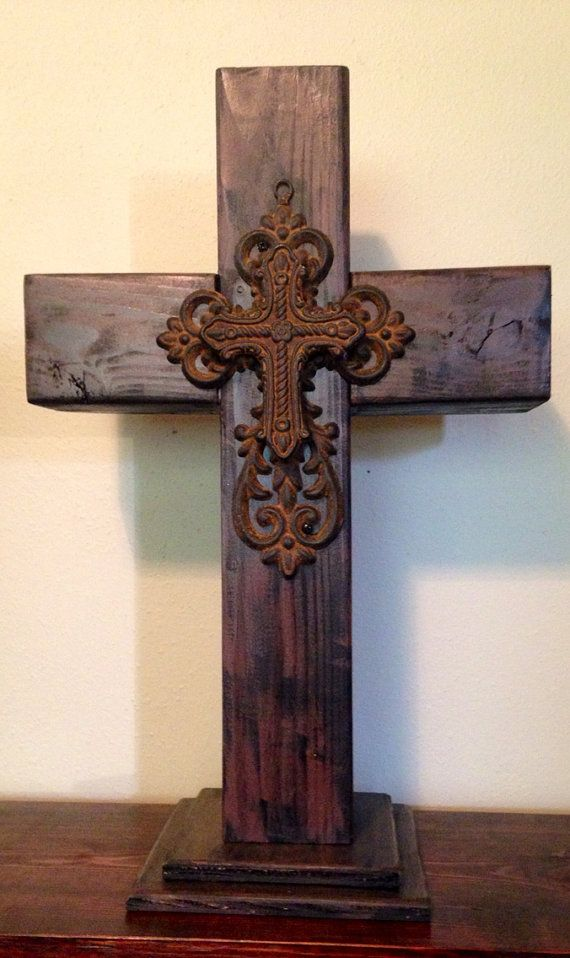 Handmade wooden cross by DakotaKrafts on Etsy, $40.00