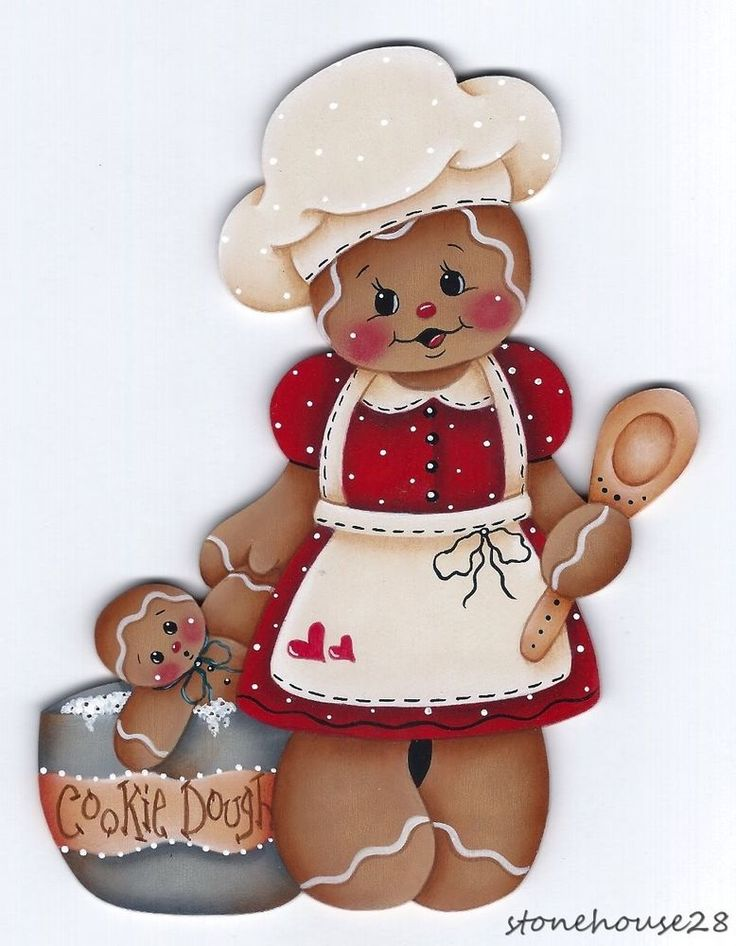 HP GINGERBREAD Cookie Dough FRIDGE MAGNET #Handpainted