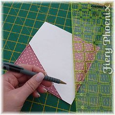 marking-dresden-wedge Fold and Stich Wreath. -Tutorial