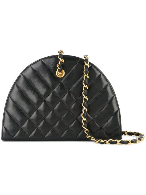 09dc2f0d4954 Chanel Vintage half round quilted bag