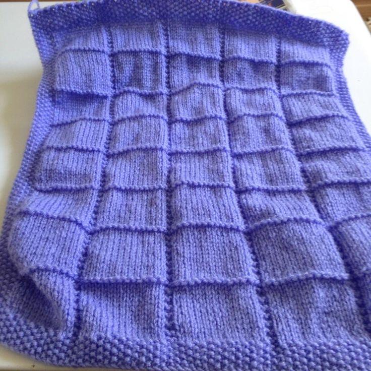 Baby Afghan Pram Blanket Knitting Creation By Heldo