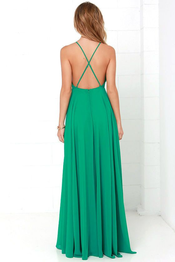 The Mythical Kind of Love Green Maxi Dress is simply irresistible in every single way! Lightweight Georgette forms a fitted bodice with princess seams and an apron neckline supported by adjustable spaghetti straps that crisscross atop a sultry open back. A billowing maxi skirt cascades from an elasticized waistline into an elegant finale, perfect for any special occasion! Hidden back zipper with clasp.