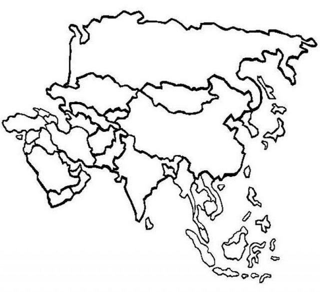 Printable Political Map Of Asia Coloring Page With Images Asia