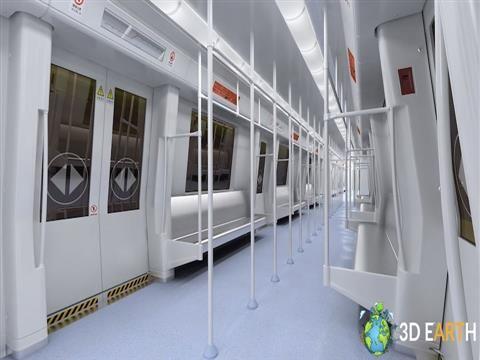 Subway city train tourism street wagon transit express 3d metro scene train 3d scene