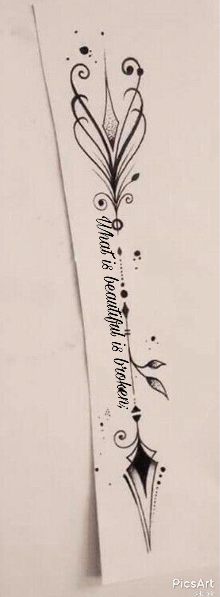Tattoo-Idee für den Unterarm – #tattoofrauenunterarm