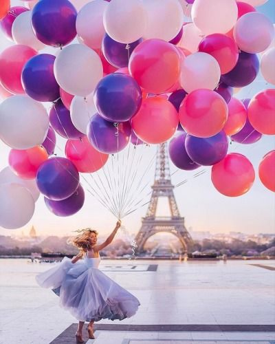 Eiffel Tower With Balloons