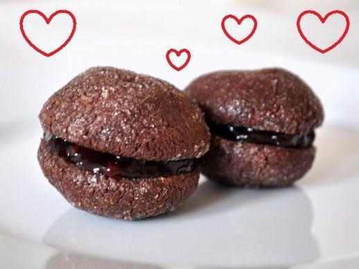 Chocolate Raspberry Baci di Dama