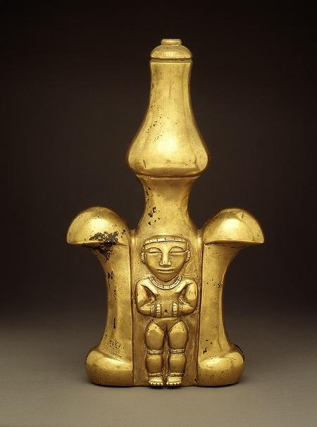 Quimbaya gold poporo [Colombia; Quimbaya] (1991.419.22) | Heilbrunn Timeline of Art History | The Metropolitan Museum of Art