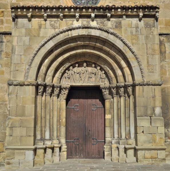 Portada de San Juan de Rabanera - Románico de la ciudad de Soria #románico #soria #sanjuanderabanera