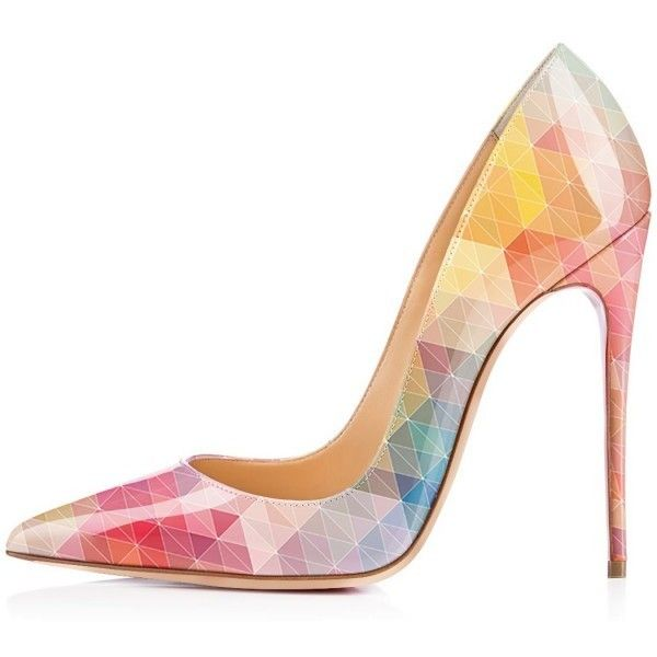 Colorful Lattice Printed Pumps (435 CNY) ❤ liked on Polyvore featuring shoes, pumps, colorful pumps, multi colored pumps, multi-color pumps, party shoes and formal shoes