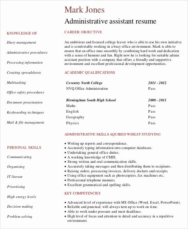 Entry Level Administrative Assistant Resume With No Experience Printable Resume Template In 2020 Administrative Assistant Resume Medical Assistant Resume Job Resume Samples