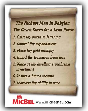 7 Cures for a Lean Purse (from George S. Clason's classic The Richest Man in Babylon)