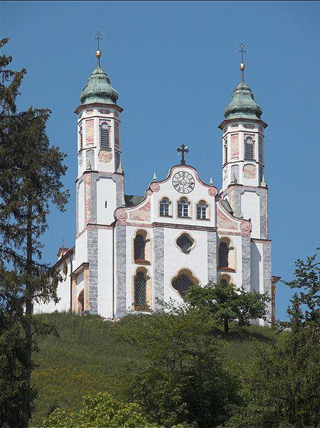 Heilig-Kreuz-Kirche auf dem Kalvarienberg von Bad Tölz