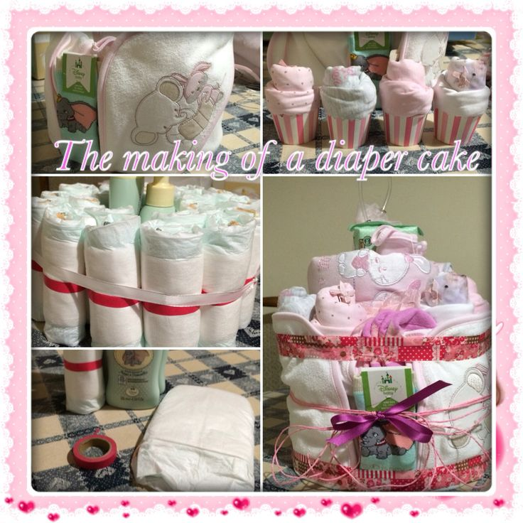 The making of a diaper cake