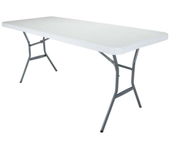Lifetime 80177 Folding Conference Table 8 Feet White Granite