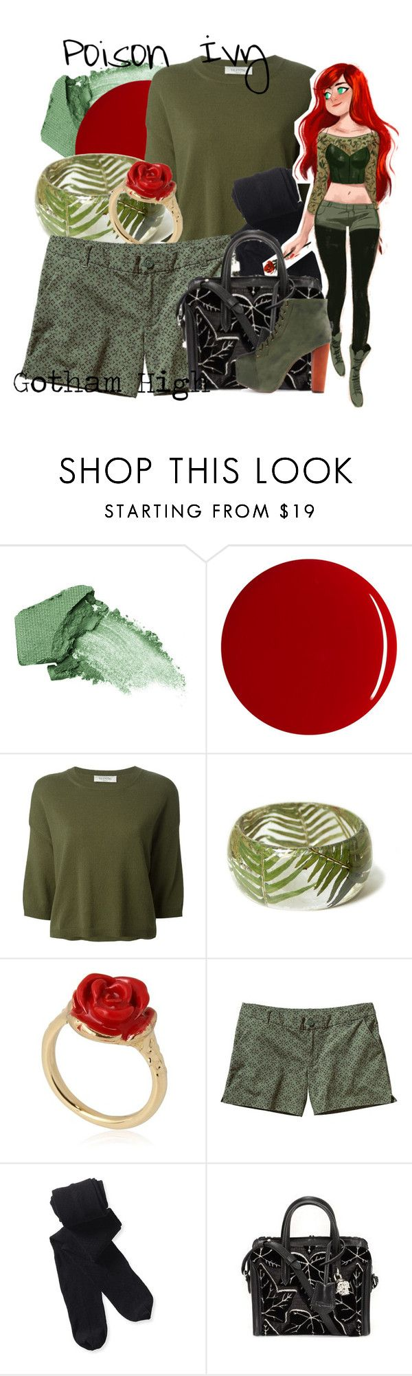 """""""Poison Ivy (Gotham High)"""" by amarie104 ❤ liked on Polyvore featuring Urban Decay, RGB, Valentino, LeiVanKash, Patagonia, Aéropostale, Alexander McQueen and Jeffrey Campbell"""