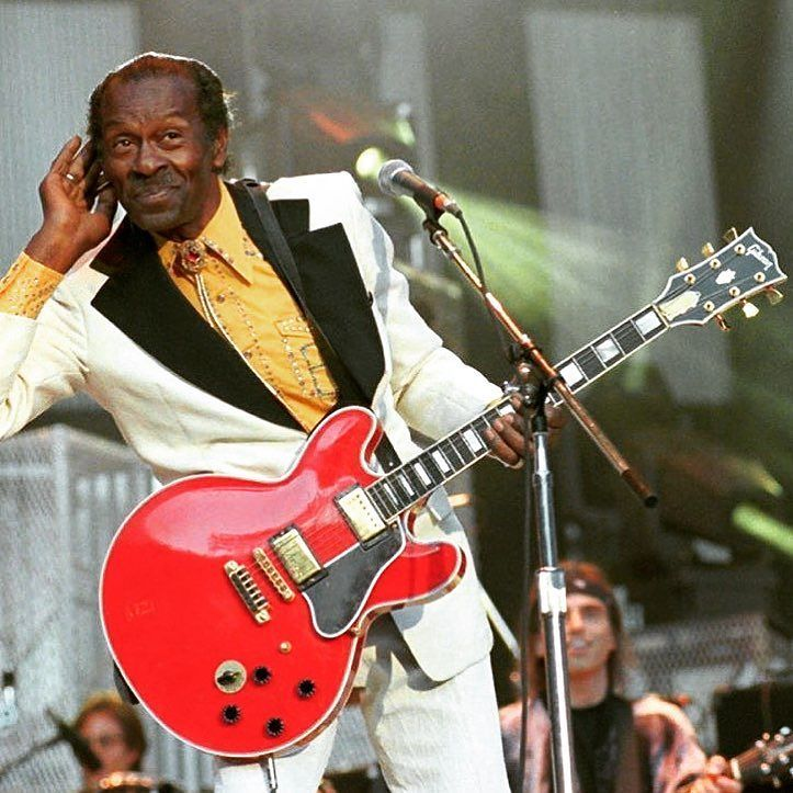 Rock n roll's first Guitar Hero Chuck Berry #ripchuckberry