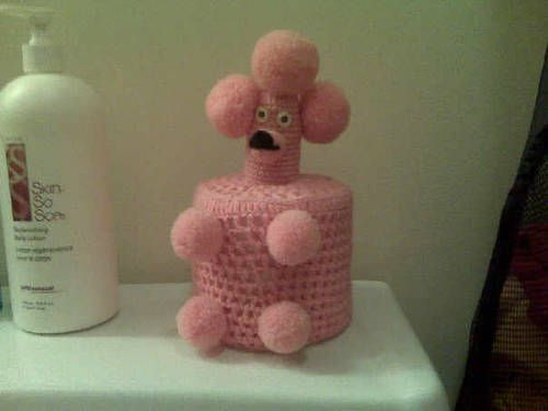 toilet paper cover: Families Bathroom, Childhood Memories, Crazy Crochet, Grandma House, Toilets Paper, Memories Lane, Paper Covers, Guard Dogs, Poodles Toilets