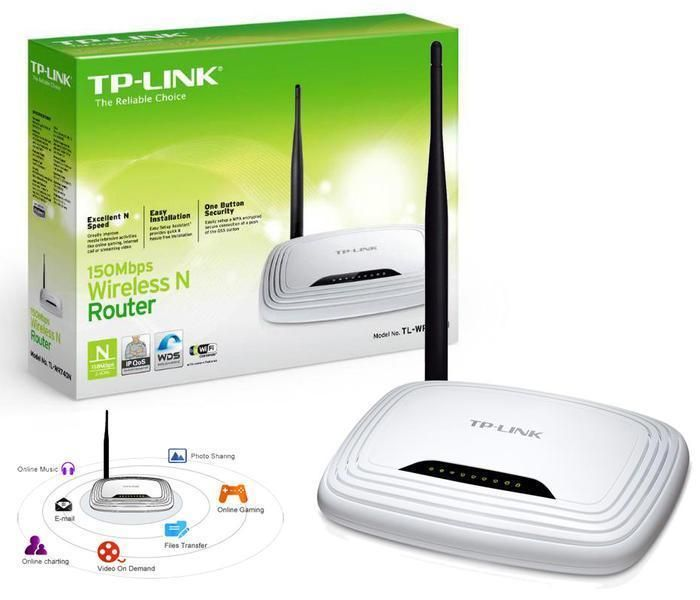 TP Link TL WR740N 150 Mbps 4 Port 10 100 Wireless N Router New in Sealed Wrapper #TPLINK #WirelessRouter #WR740N #4Port
