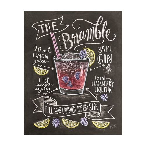 """Gefunden bei Wayfair.de - Poster """"Classic Cocktails Crushed Ice Cocktail"""" von Lily and Val, Retro-Werbung"""