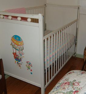 Old Fashioned Drop Side Baby Crib Had Two White Cribs With Sides Loved The For Lifting In And Out Dressing Changing Diapers