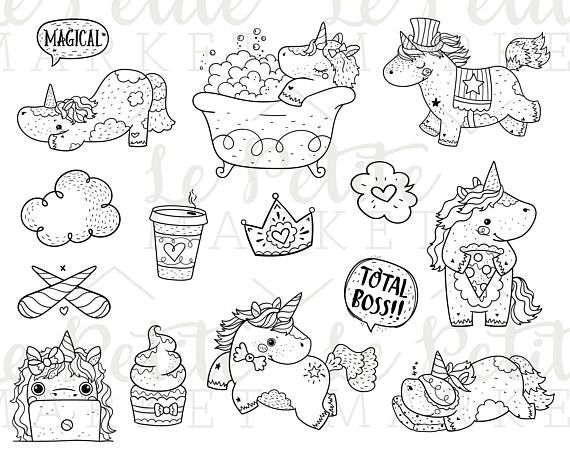 Best 25 licorne coloriage ideas on pinterest coloriage - Dessin licorne kawaii ...