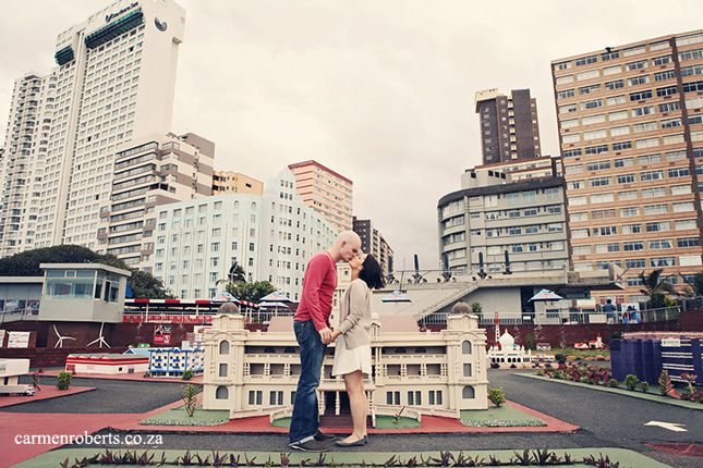 More in Mini Town, Durban. Engagement Shoot with Cameron & Louise. Carmen Roberts Photography