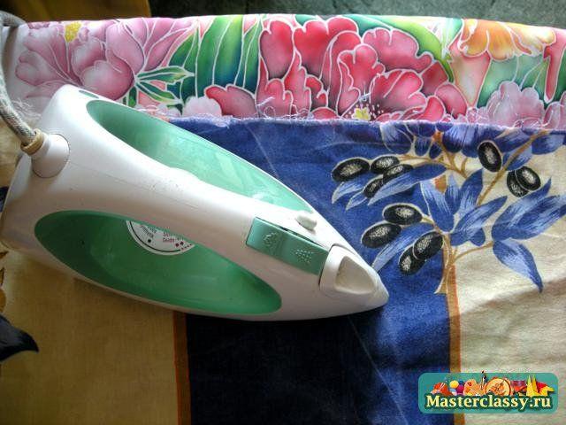 tecno batik MK --- Роспись по шелку. Холодный батик. Пионы. Мастер класс с пошаговыми фото