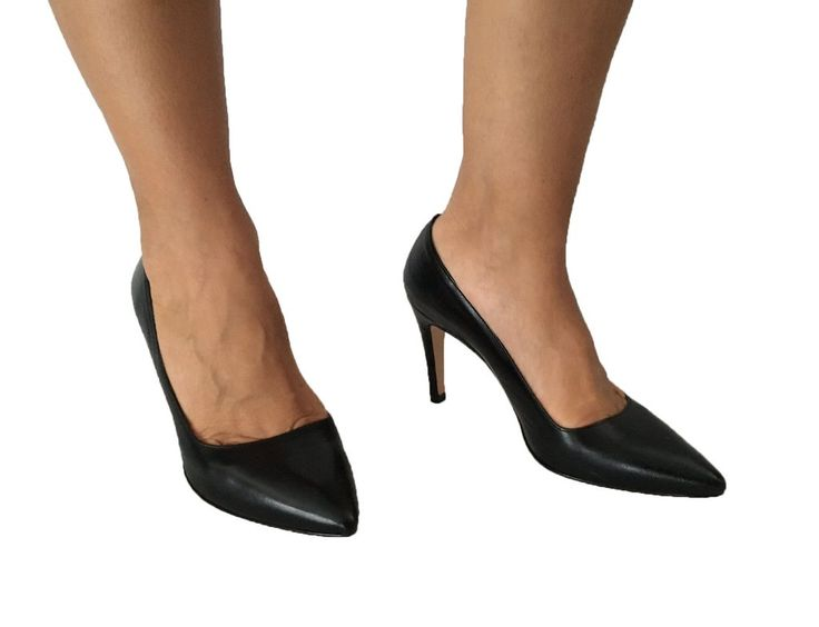 UPPER CLASS scarpa donna décolleté nero tacco cm 8 100% pelle MADE IN ITALY