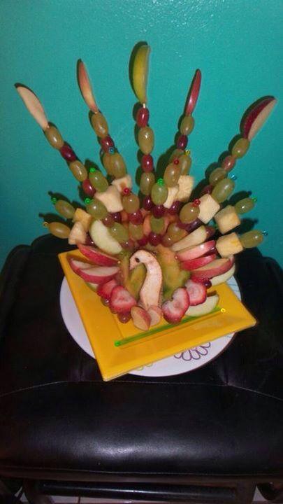 Frutas y fiesta de acción de gracias.