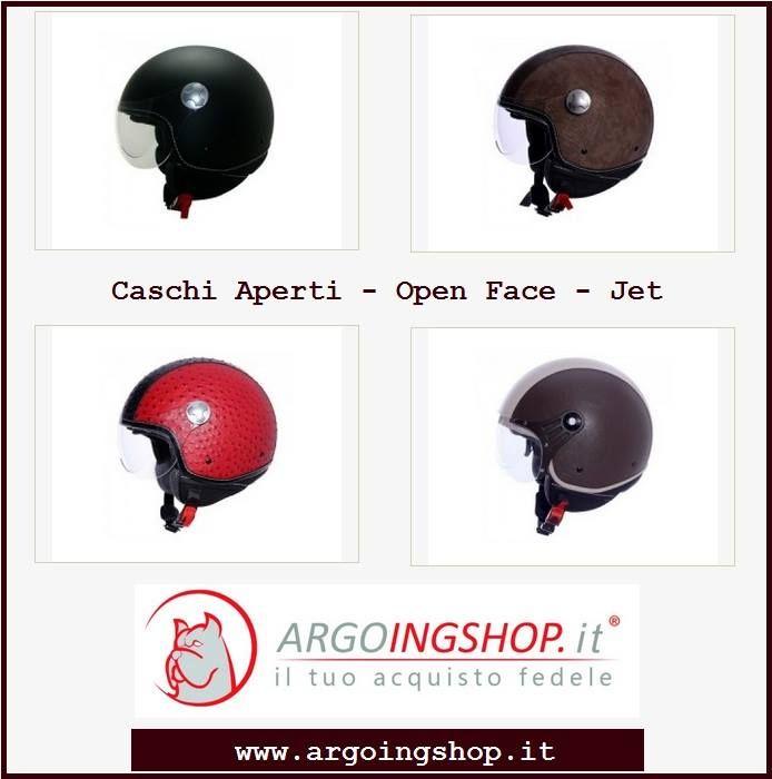 """⚫⚪⚫ Caschi Aperti - Open Face - Jet ⚫⚪⚫  🏍 Casco Aperto Open Face"""" Senza Grafica"""" 🏍 Casco Aperto Open Face"""" Pelle""""  ✔ Acquista il prodotto qui: https://goo.gl/QJTX5y"""