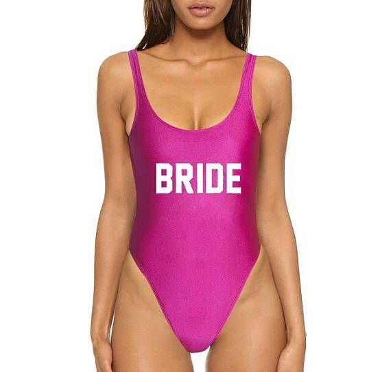 Bruid hete roze Monokini Scoop terug één stuk zwembroek