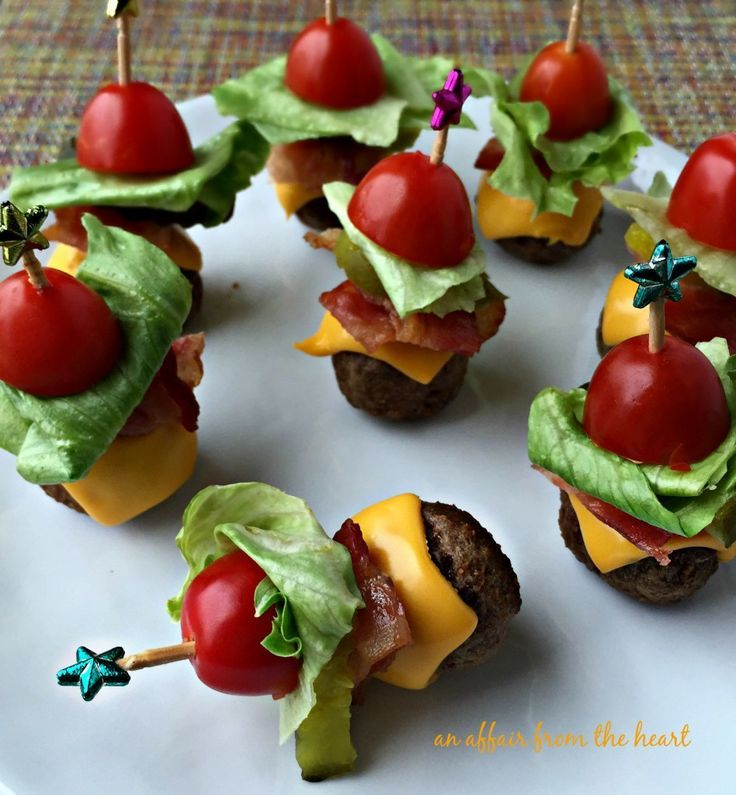 finger food ideas for bridal shower%0A Bacon Cheeseburger Meatballs