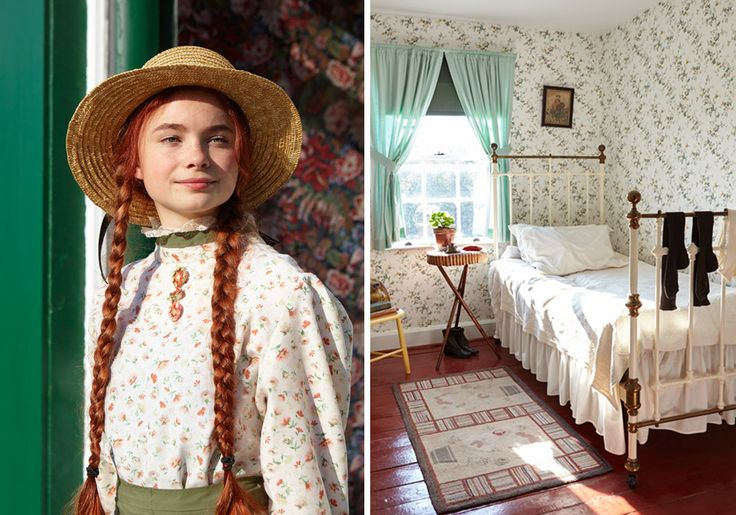 Beautiful bedroom from a house in the house in Cavendish, Prince Edward Island that inspired the stories in Anne of Green Gables