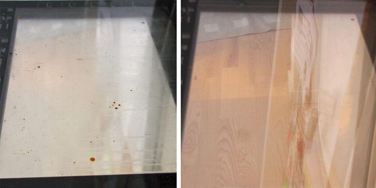 Slik rengjør du glasset i stekeovnen
