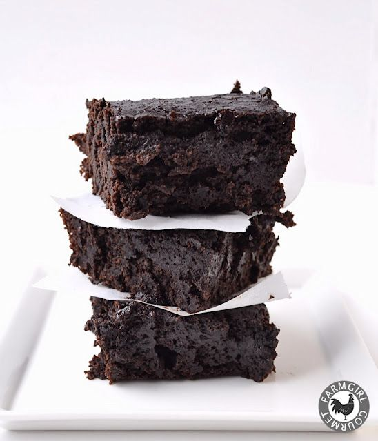 Dark Chocolate Stout Brownies - Vegan and Low Fat.  No lie!
