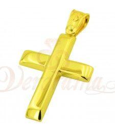 Σταυρός ανδρικός χρυσός Κ14 ST12_018