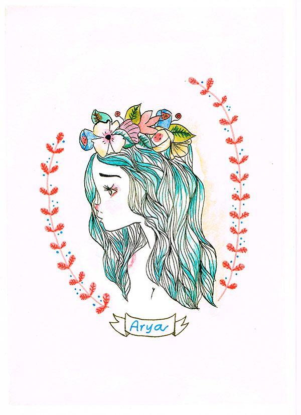 wild girls  illustration by Elda Cingolani