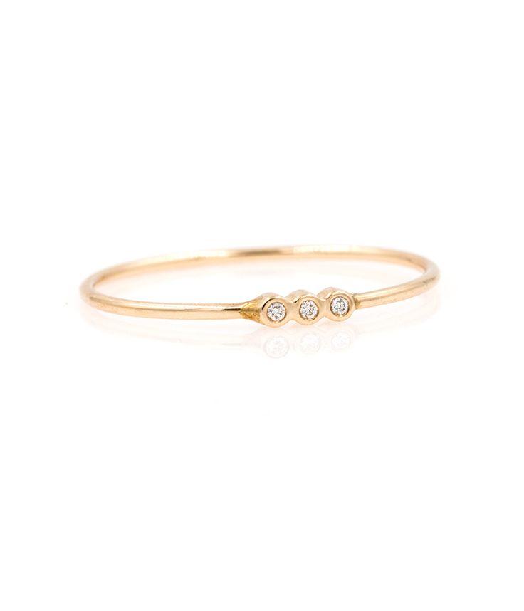 Triple Bezel Ring