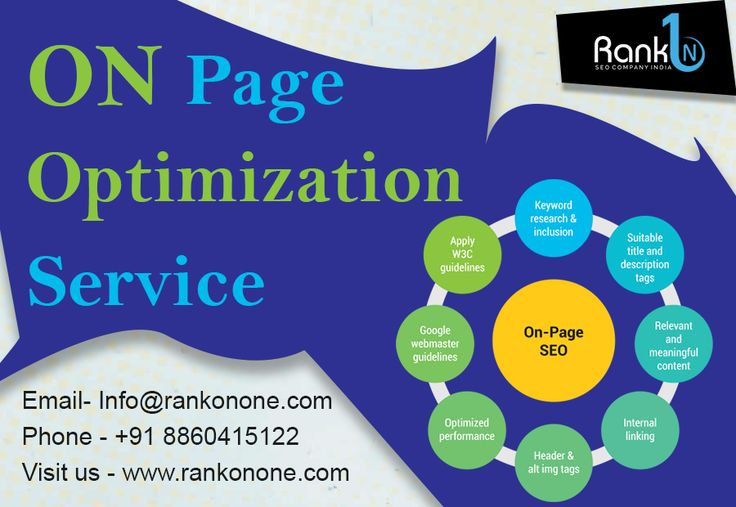 #On #Page #Optimization is an integral and important part of #SEO. On-page Optimization is the process of modification of various elements in a Web pages such as keyword density, html errors, html optimization, URL, Meta tag, #ALT #Tags, #title, heading, #XML #Site #Map so that search engine spiders could easily locate the Web pages. For more details click here :-  https://goo.gl/FJa3td
