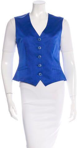 Loro Piana Silk Button-Up Vest