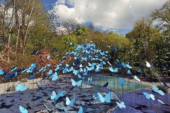 The smoke blue garden