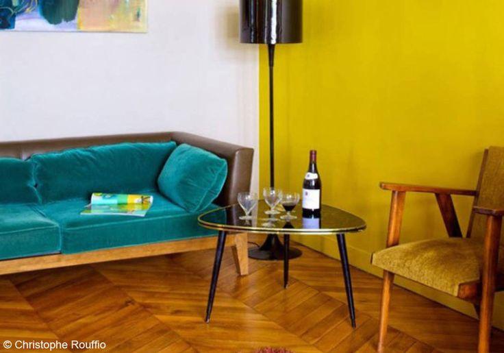 17 meilleures id es propos de rideau moutarde sur for Salon jaune moutarde
