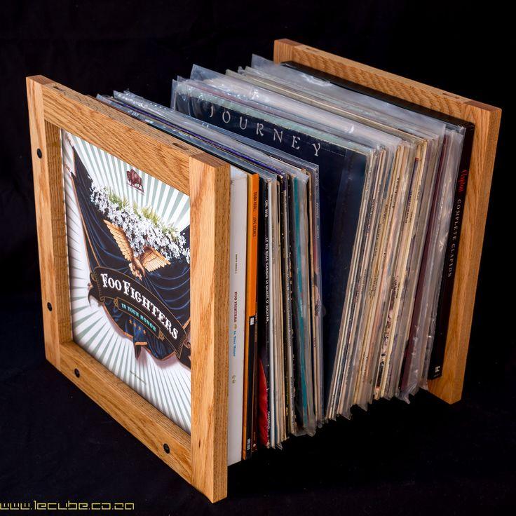 lecube solid hardwood vinyl lp storage by lecubecoza on etsy
