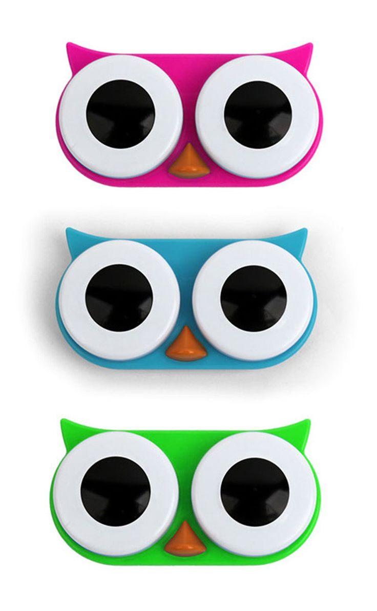 Boîte-hibou pour lentilles de contact - Cadeaux sur IdéeCadeau.fr